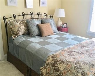 Full size bed & linens