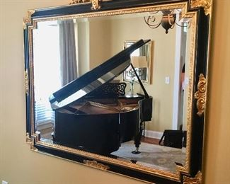 Large ornate mirror (piano, not for sale)