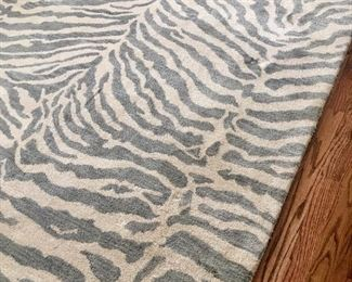 "Zebra  pattern rug ~ measures approx. 7'9"" by 9'9"""