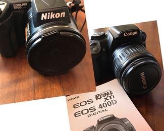 Canon EOS Rebel digital camera & Nikon COOLPIX 5700 digital camera