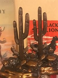 50's metal book ends