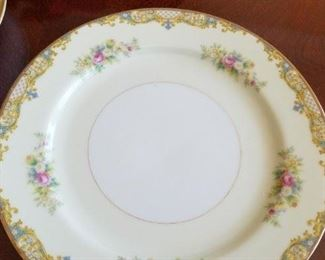 complete set of Noritake china, Carmela pattern, with serving pieces