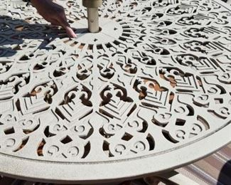 outdoor table detail. Needs a light scraping and repainting