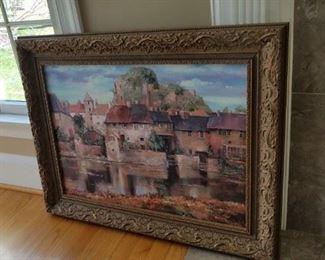 framed signed artwork