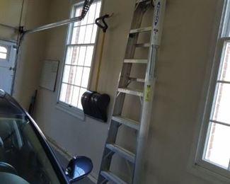 Werner 8 foot aluminium ladder