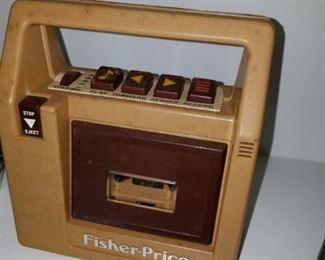 vintage Fisher Price tape recorder