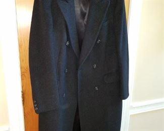 men's Burberry 100% wool coat, fresh from dry cleaner