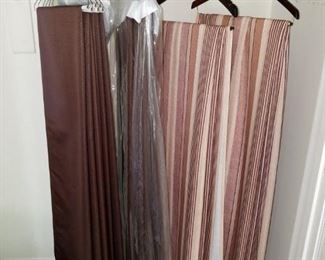 high quality window treatments, curtain panels, fresh from dry cleaner