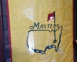 Masters Flag Framed