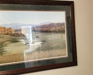 Golf Course Framed Print