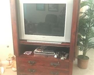 TV and TV cabinet