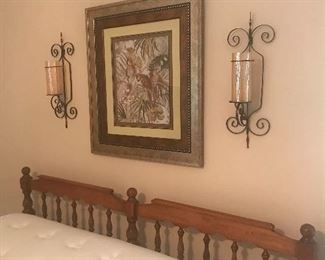 Picture and sconces