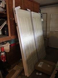 4 new solid doors