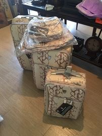 New snake skin luggage set...never used