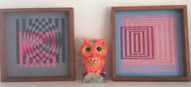 More 1970s paintings by the professor + groovy vintage owl bank