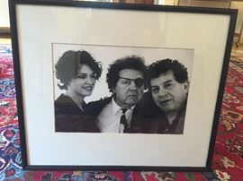 Photo of Dale Chihuly, Italo Scanga & unidentified woman