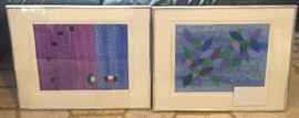 """Paintings on paper by the professor - image size approx. 10"""" x 13"""""""