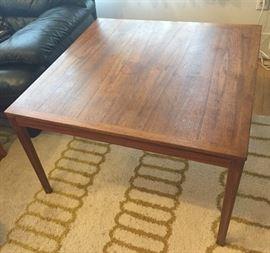 "Square teak coffee table - 31.5"" square x 19.5"" tall"