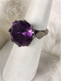 Jc028 Sterling  Sapphire Ring