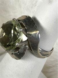 J032 Sterling  Citrine Ring Mexico