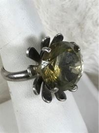 Jc033 Sterling  Citrine Ring