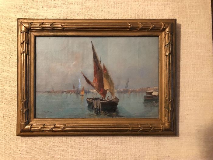 Small antique Venetian oil painting