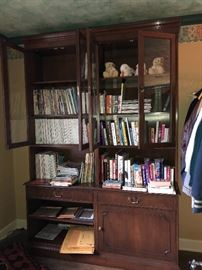 Walnut bookcase/cabinet is for sale