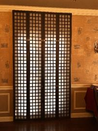 Capiz shell-tall shutters