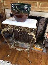Victorian brass stand