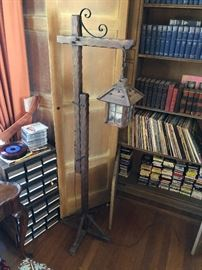 Vintage Oak floor lamp