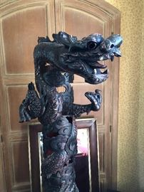 detail of Dragon pole (Not antique)