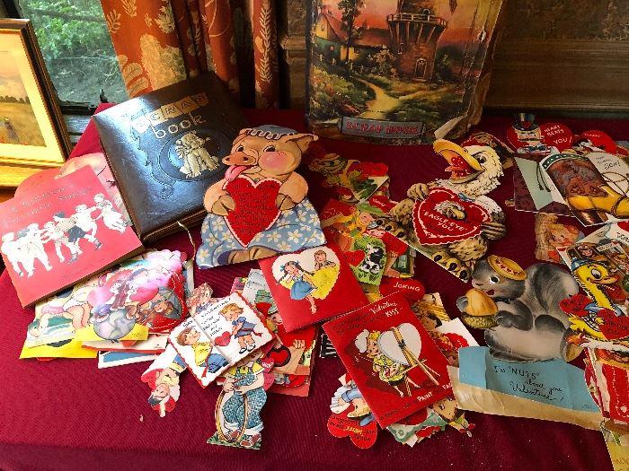 many vintage Valentines