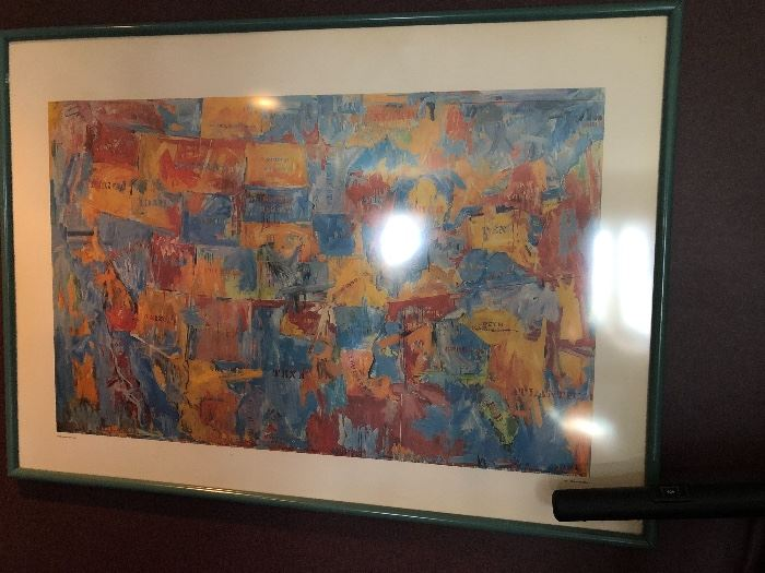 Jasper Johns very large print