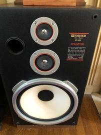 Large Fisher speakers pair