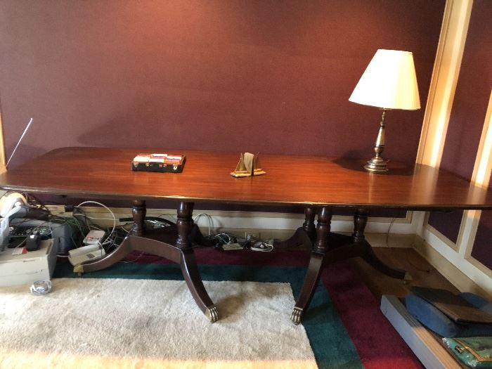 Large mahogany conference table