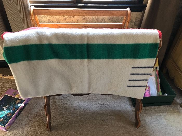 4 point wool Hudson Bay wool blanket