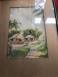 Philippines antique watercolor 1939