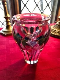 "Lotton 6 3/4""  art glass paperweight vase"