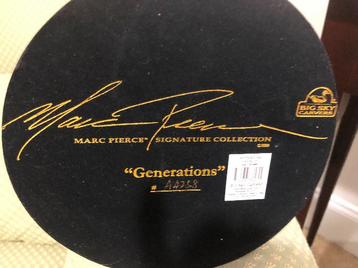 """Marc Pierce signature collections. """"Generations"""" (aka """"Boy Trying to Save Fisherman from Quicksand"""")"""