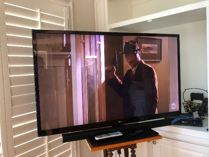 55 inch LG Flat Screen with Panasonic sound! You'll never have to leave the house (but we recommend you do anyway)