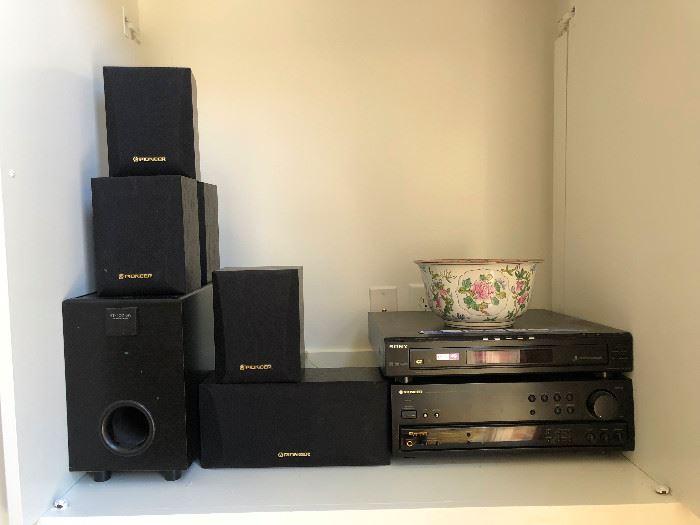 Turntable, speakers, stereo stuff