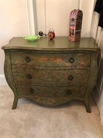 Engraved, stenciled fancy dresser
