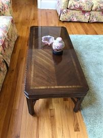 Nice parquet inlayed coffee table!