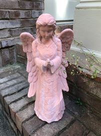 terra cotta angel yard art