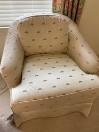 We have a pair of these nice easy chairs from Drexel Heritage