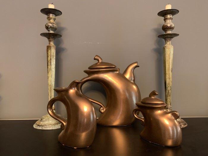 """Dancing"" Tea Set from Artist Michael Lambert"