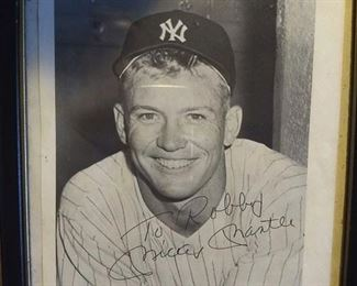signed photo of Mickey Mantle