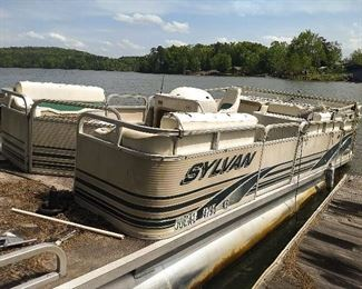 pontoon boat (two pontoon boats and one trailer for sale) (as is)