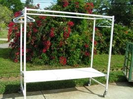 rolling rack is 31 inches wide 76 long and 76 tall