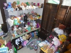 Some of the Beanie Babies Collection